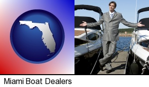Miami, Florida - a yacht dealer