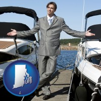 rhode-island map icon and a yacht dealer