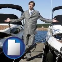 utah map icon and a yacht dealer