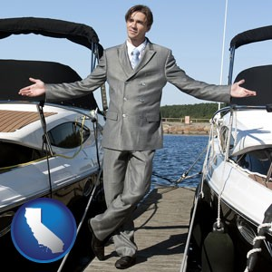 a yacht dealer - with California icon