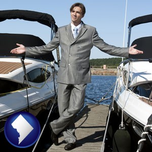 a yacht dealer - with Washington, DC icon