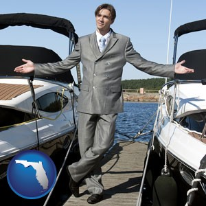 a yacht dealer - with Florida icon