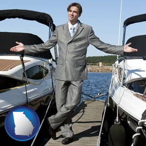 a yacht dealer - with Georgia icon