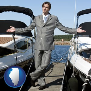 a yacht dealer - with Illinois icon
