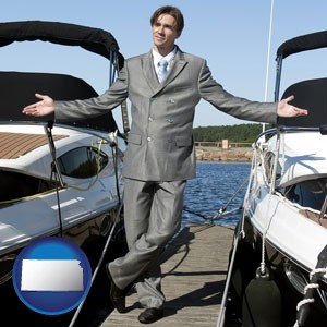 a yacht dealer - with Kansas icon