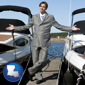 a yacht dealer - with Louisiana icon