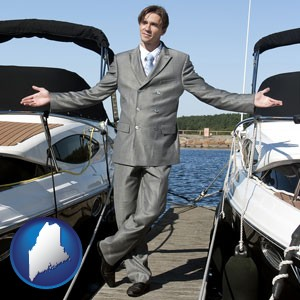 a yacht dealer - with Maine icon