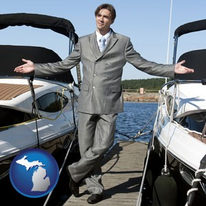 a yacht dealer - with Michigan icon