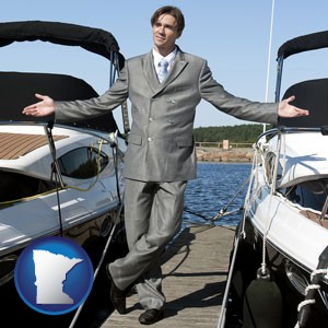 a yacht dealer - with Minnesota icon