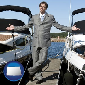 a yacht dealer - with North Dakota icon