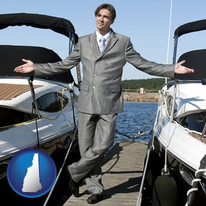 a yacht dealer - with New Hampshire icon