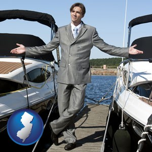 a yacht dealer - with New Jersey icon