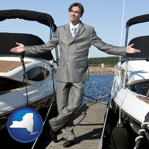 a yacht dealer - with New York icon