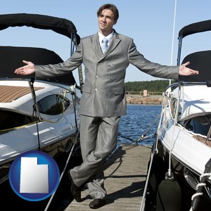 a yacht dealer - with Utah icon