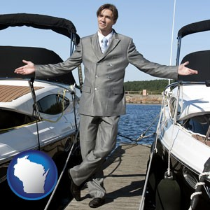 a yacht dealer - with Wisconsin icon