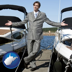 a yacht dealer - with West Virginia icon